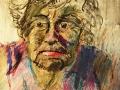 <elderly woman>