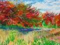 <i>Autumn Trees and Hayfield<i/>